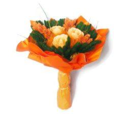 Muharos szárazvirág csokor (narancs)