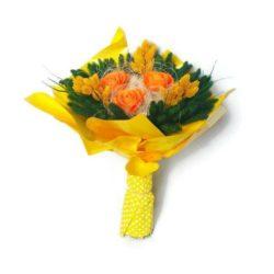 Muharos szárazvirág csokor (sárga)
