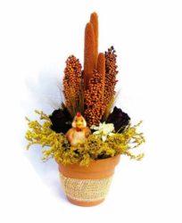 Tyúkanyós szárazvirág asztaldísz