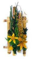 Bambuszos szárazvirág falidísz