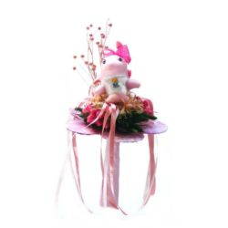 ballagasi-szarazvirag-csokor-rozsaszin-delfin-figuraval