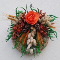 Kegyeleti szárazvirág koszorú