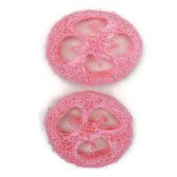 Szárazvirág alapanyag - Luffatök szeletek (nagy / rózsaszín)