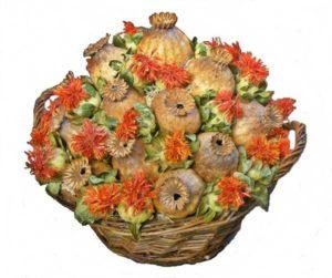 Szárazvirág asztaldísz mákgubóval