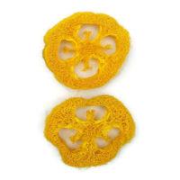 Szárazvirág alapanyag - Luffatök szeletek (nagy / sárga)