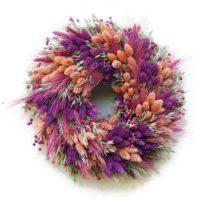 Kalászos szárazvirág koszorú