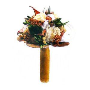 ballagasi-szarazvirag-csokor-barack-szinu-rozsaval