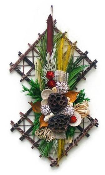 lótuszos szárazvirág falidísz